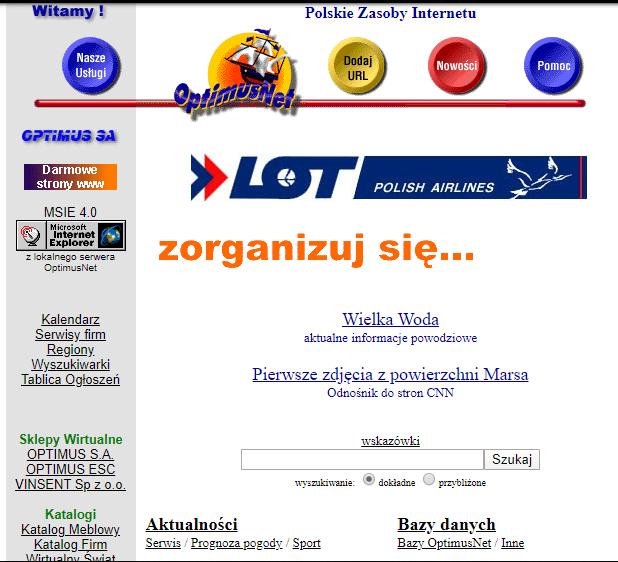 archiwalna strona onet.pl