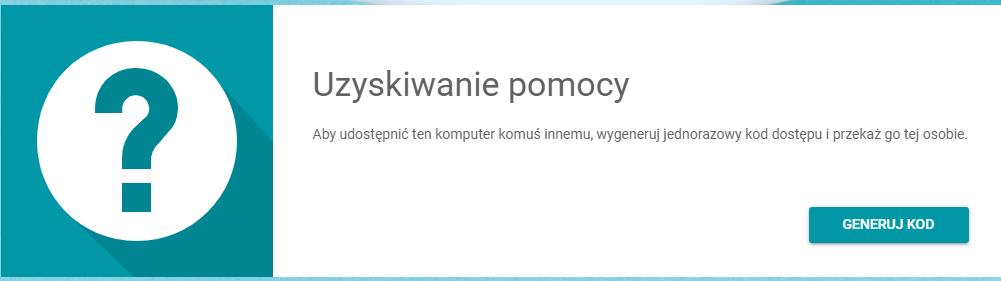 Pulpit Zdalny Chrome generuj kod