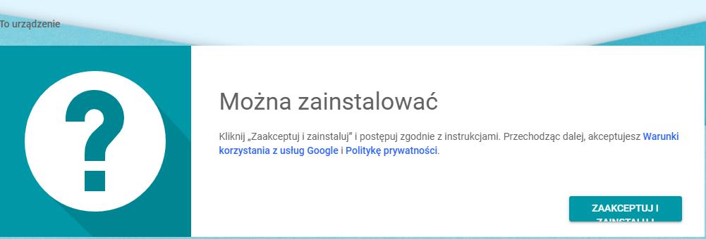 Pulpit Zdalny Chrome zaakceptuj i zainstaluj