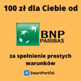 Promocja BNP Paribas konto osobiste bankowe 100 zł premii